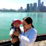 Kim's first mother's day at Navy Pier