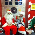 This is the least screamy picture with Santa and Mrs. Klaus.