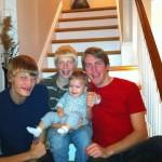 Joshua's nephews with their baby cousin.